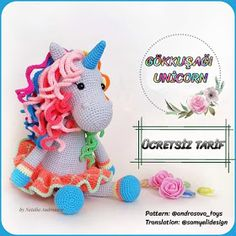 In this article I will share with you a great amigurumi doll free pattern. You can enjoy this beautiful amigurumi doll free pattern with pleasure. Crochet Dolls Free Patterns, Amigurumi Patterns, Free Crochet, Crochet Unicorn Pattern Free, Giraffe Crochet, Amigurumi Free, Amigurumi Doll, Miki Mouse, Rainbow Unicorn