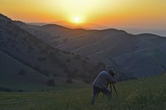 Sunset Rengers Style by David Clendenen on Capture Kern County // Steve Rengers photographing a dirty sunset on Wind Wolves Preserve.