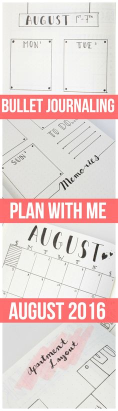 I just posted a video going through my bullet journal PLAN WITH ME (August Edition) !