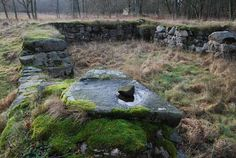 Mölleröds slottsruin. Slottet vid Finjasjön byggdes omkring 1580 och brändes av danskarna och snapphanar under Skånska kriget 1678. Idag återstår murrester och en vallgrav.