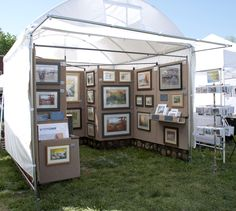 art show booth layout | For Art's Sake: Booth Upgrade, Step 2: A New Display Canopy!