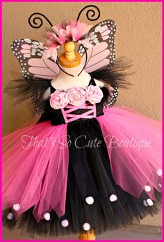 Monarch Butterfly Tutu Dress-butterfly, tutu dress, pink, monarch, costume, halloween