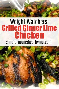 Easy, healthy luscious grilled ginger lime chicken from Weight Watchers Weekly with 5 WW SmartPoints has become an instant family favorite!