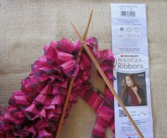 Crocheting Red Heart Ribbon Yarn | WendyLynn's Paper Whims: Red Heart Boutique Ribbons Yarn Scarf