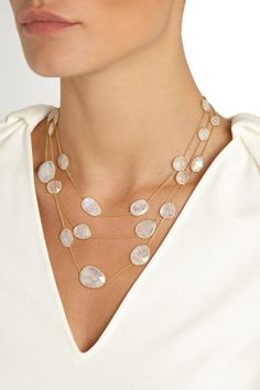 Pippa Small | 18-karat gold rainbow moonstone necklace | NET-A-PORTER.COM