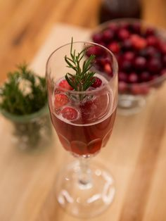 Cranberry Prosecco Fizz recipe from Food Network Specials via Food Network