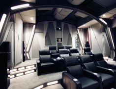 Uber-Geek Builds An Incredible Death Star Themed Home Theater ...