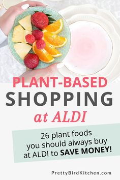 You can do most of your plant-based shopping at Aldi! Here is a list of affordable plant foods you should always buy at Aldi to save money and stick to your grocery budget even on a whole food, plant-based diet. Plant Based Whole Foods, Plant Based Diet, Plant Based Eating, Plant Based Recipes, Aldi Recipes, Whole Food Recipes, Vegetarian Recipes, Dinner Recipes, Diet Grocery Lists