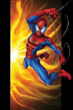 #Ultimate #Spiderman #Fan #Art. (ULTIMATE SPIDER-MAN #50) By: Mark Bagley.