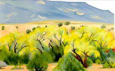 Georgia O'Keeffe - Cottonwood III, 1944