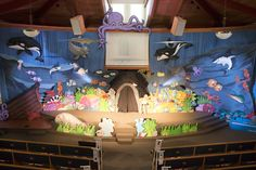 Drama set at a mid-size church for Ocean Commotion VBS 2016