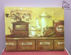 Tela 40x30 Coffe Time Angelica Home&Country