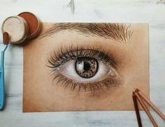 Detail oka pomocí PanPastelů jehož autorkou je Nela Kratochvílová Neli.art Detail, Drawings, Anime, Walls, Shop Signs, Sketches, Cartoon Movies, Anime Music, Drawing