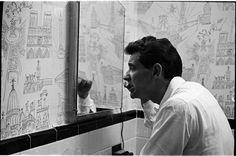 Leonard Bernstein [Leonard Bernstein brushing his teeth.]