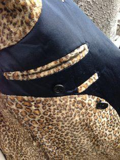 black and leopard design's jacket. Back cloth.