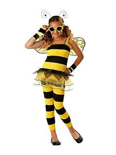 Girls Little Honey Bee Costume  from the Catch My Party Store! #costume #bumblebee