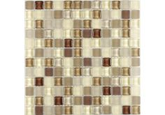 Using the Bubble Brown/Gloss Frosted Glass Mosaic is a brilliant of adding a little retro sheek to your home, with its bubble shape giving this mosaic a very unique appearance. £8.99 per sheet