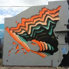 Street Artist Spray-Paints Boring Buildings With Optical Illusions That Look Like 3D Portals | Bored Panda
