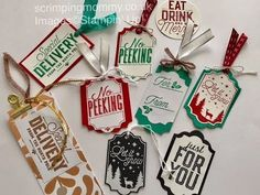 Embossed Gift Tags Tutorial with Everyday Label Punch from Stampin' Up. - YouTube