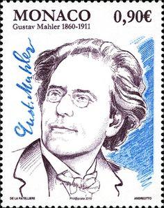 Gustav Mahler auf Briefmarke aus Monaco