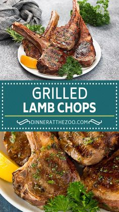 These grilled lamb chops are coated in a savory garlic and herb marinade, then cooked to tender perfection. A quick and easy dinner option that's both easy and elegant, and always gets rave reviews! Grilled Vegetable Recipes, Grilled Recipes, Lamb Recipes, Food Dishes, Main Dishes, Side Dishes, Quick Dinner Recipes, Summer Recipes, Pork Roast In Oven