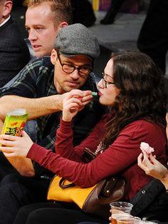Nick Zano and Kat Dennings #love #PDA #cute