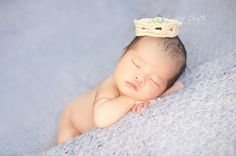 Newborn Mini Prince Crown by PetuniaandIvy on Etsy, $12.00