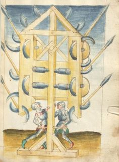 Bellifortis VerfasserKyeser, Conradus  ErschienenElsaß, [um 1460] Ms. germ. qu. 15  Folio 58r