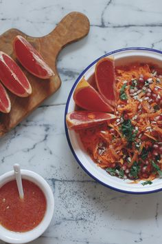 Carrot Salad with Pomegranate and Grapefruit