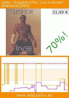 Usher - Evolution 8701: Live in Concert [Alemania] [DVD] (DVD). Baja 70%! Precio actual 11,93 €, el precio anterior fue de 39,95 €. https://www.adquisitio.es/jrb-prod-dist-y-comun-sl/usher-live-evolution-8701