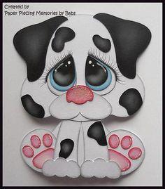 Paper Piecing Dálmata Cachorro prefabricados Die Cut Para Scrapbook página bybabs