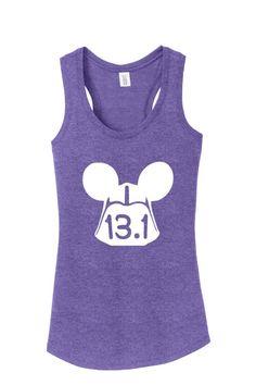 099de1ae 13.1 Half Marathon Darth Vader star wars Vacation Walt Disney shirt plus  misses ladies woman's tank