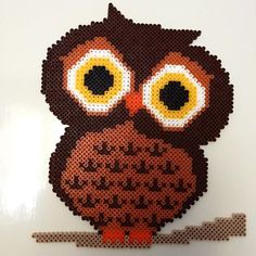 Owl hama beads by lovebuz_pyssel