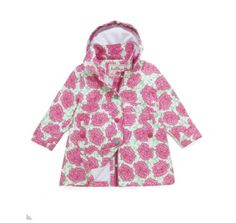 Hatley Pink Roses Waterproof Raincoat at Wellies and Worms £39.99