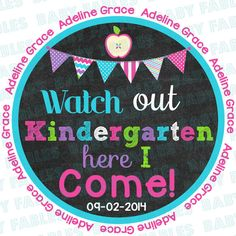 Back to School Iron On Transfer  Watch Out by babyfables on Etsy, $5.00