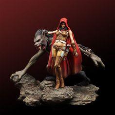 75MM  resin model kit Werewolf Queen