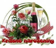 Výsledek obrázku pro gratulace k narozeninám Wine Bottle Images, Happy Birthday Quotes, Christmas Wreaths, Table Decorations, Holiday Decor, Home Decor, Image Editor, Humor, Google