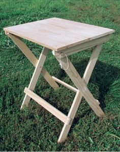 Reproduced Civil War-style camp table