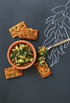 Amaranth Crackers with Cheddar and Pepitas  ~ Notes from a Gluten Free Kitchen, Laura b. Russell