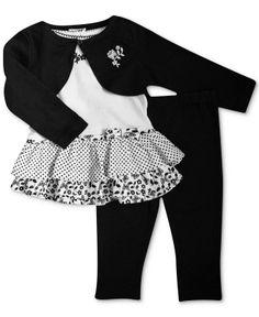 Penelope Mack Baby Girls' 3-Piece Shrug, Shirt & Pants Set - Kids Baby Girl (0-24 months) - Macy's