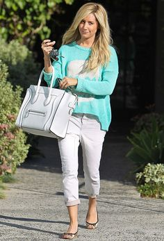 Ashley Tisdale + White Pants