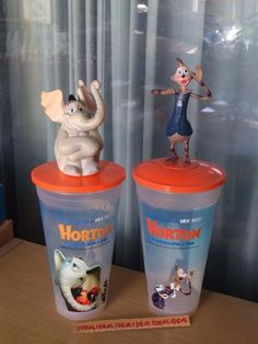 2x DR. SEUSS Horton Hears a Who! CUP Topper Figure f/ theater set HORTON + MAYOR Horton Hears A Who, Theater, Planter Pots, Cinema, Ebay, Movies, Theatre, Teatro, Theatres