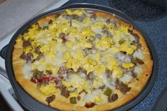 Very tasty and easy Breakfast Pizza!