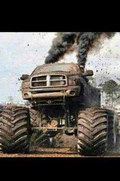Jacked up trucks