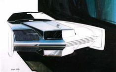 Cadillac Eldorado proposal by Wayne Kady, 1970 Retro Cars, Vintage Cars, Antique Cars, Cadillac Eldorado, Car Design Sketch, Car Sketch, Design Transport, Car Illustration, Car Posters
