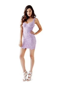 Sleeveless Lace Sheath Dress   GUESS.com