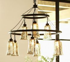 Brantley Antique Mercury Glass Chandelier | Pottery Barn 599.00