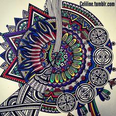spiral of dodles.