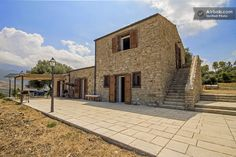 Historic farmhouse with newly renovated interior in Sicily, Italy.
