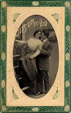 Vintage UNUSED Romantic Valentines Day Postcard by VintagenutsInc, $7.50